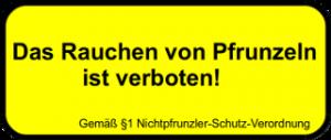 pfrunzel-verbot